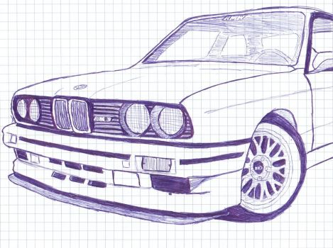 Drawn bmw e30 Explore on the e30m3 Edited