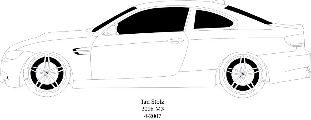 Drawn bmw e92  of drawing 2008 technical