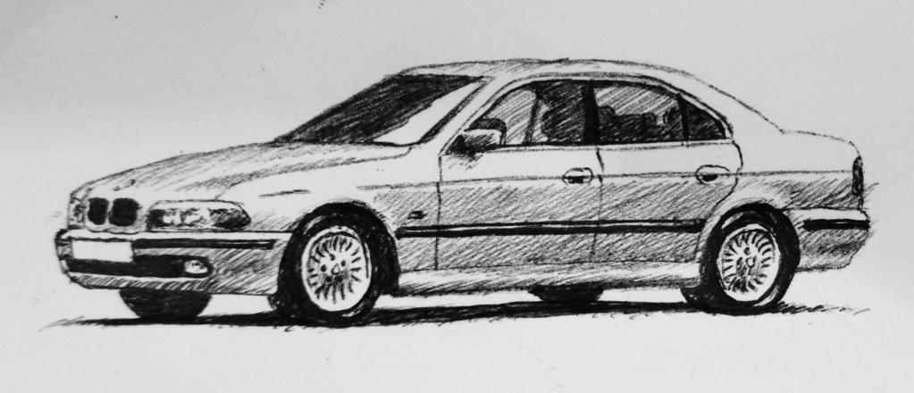 Drawn bmw tuning 540i : an E39 E39