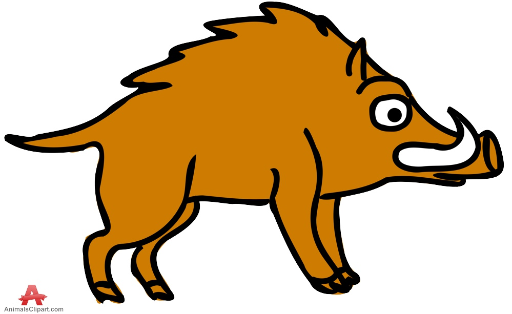 Boar clipart wild boar Clipart Clipart the Animals drawn