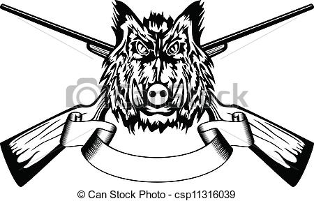 Boar clipart vector Guns  boar of wild