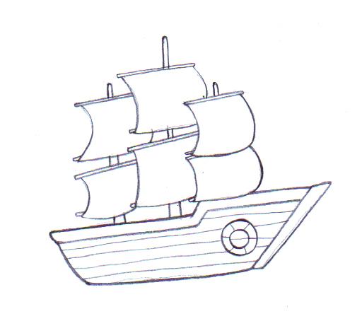 Drawn boat Boat Ways Draw a to