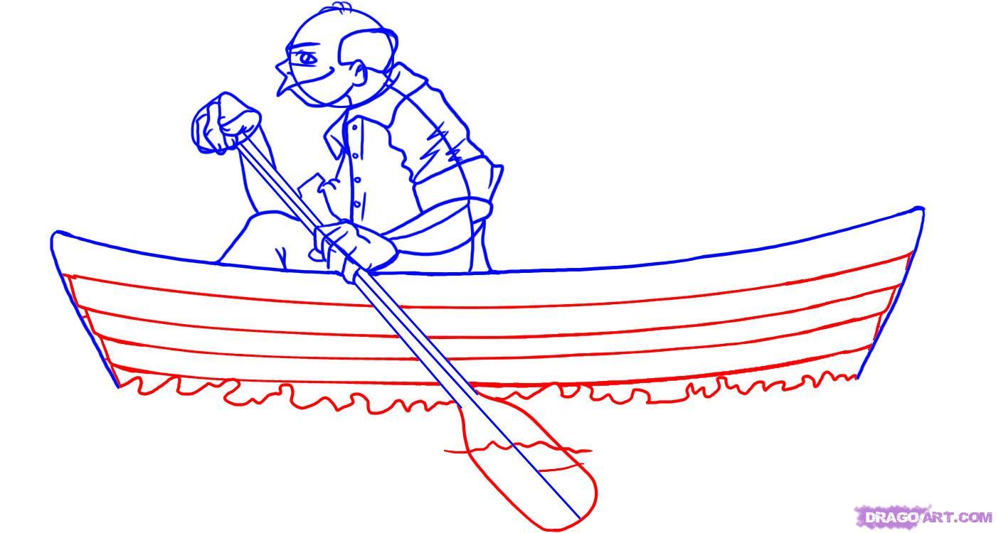 Drawn boat Row How draw a Boats