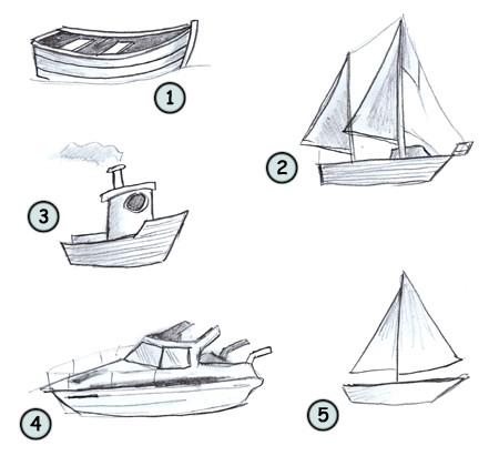 Drawn yacht #2