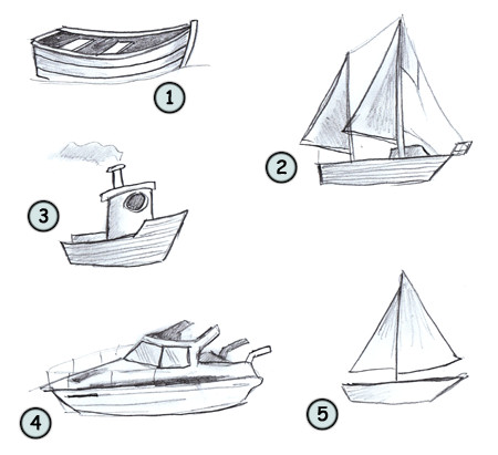 Drawn boat Boat a cartoon Drawing