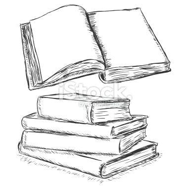 Drawn book How Blank Sketch draw Book