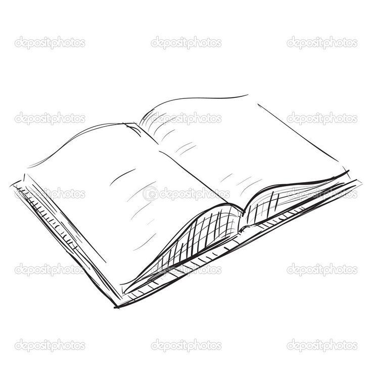 Drawn book easy Sketch ideas #7412813 Stock Open