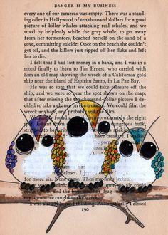 Drawn bobook Maybe newspaper owl lilustration custom