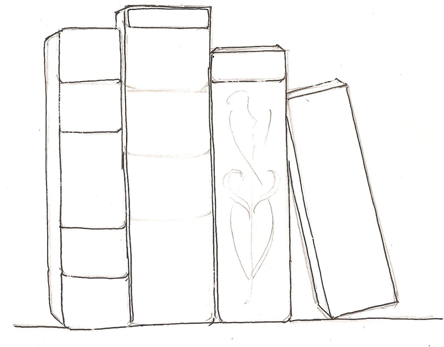 Drawn book easy To books Book shelf be