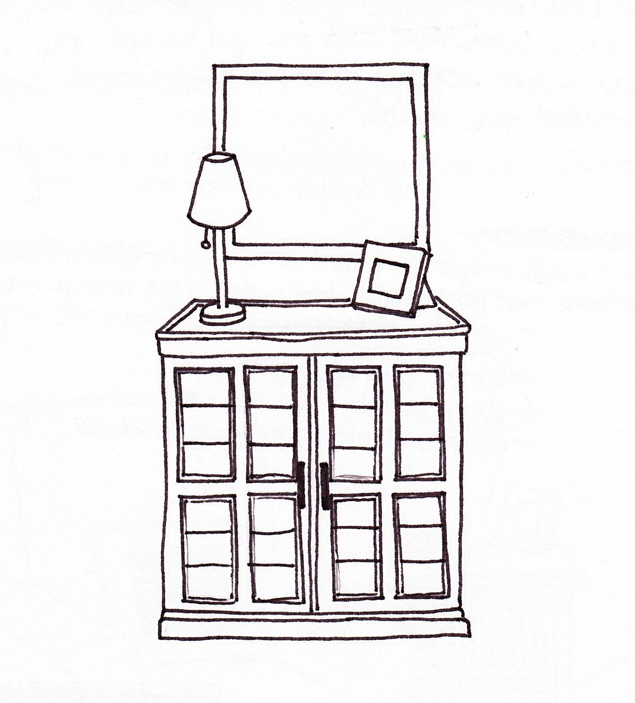 Drawn bookcase #5