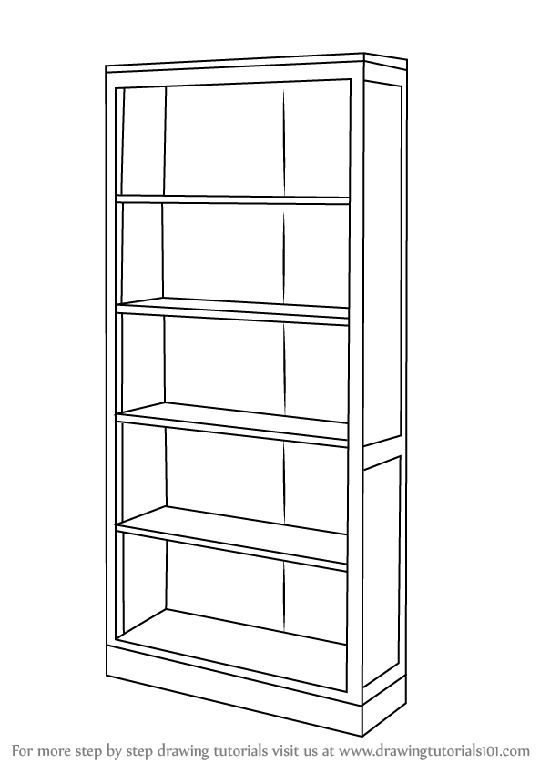 Drawn bookcase #9