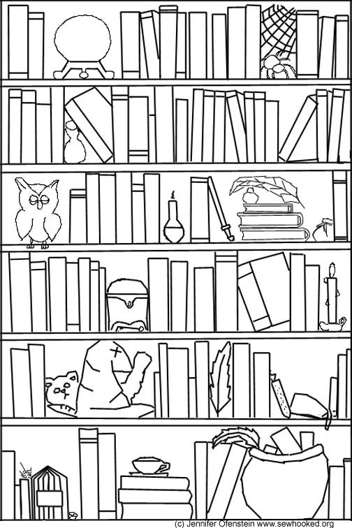 Drawn bookcase #12