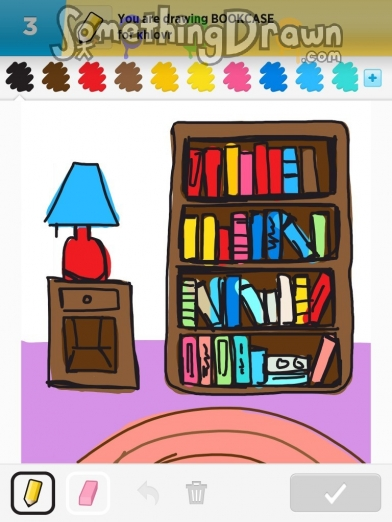 Drawn bookcase #1
