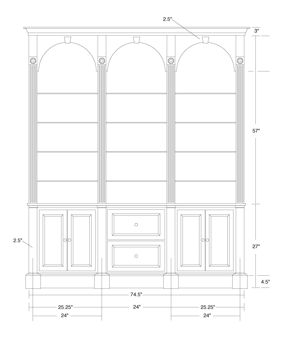 Drawn bookcase #6