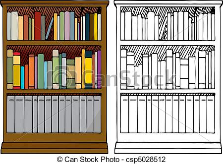 Drawn bookcase #2