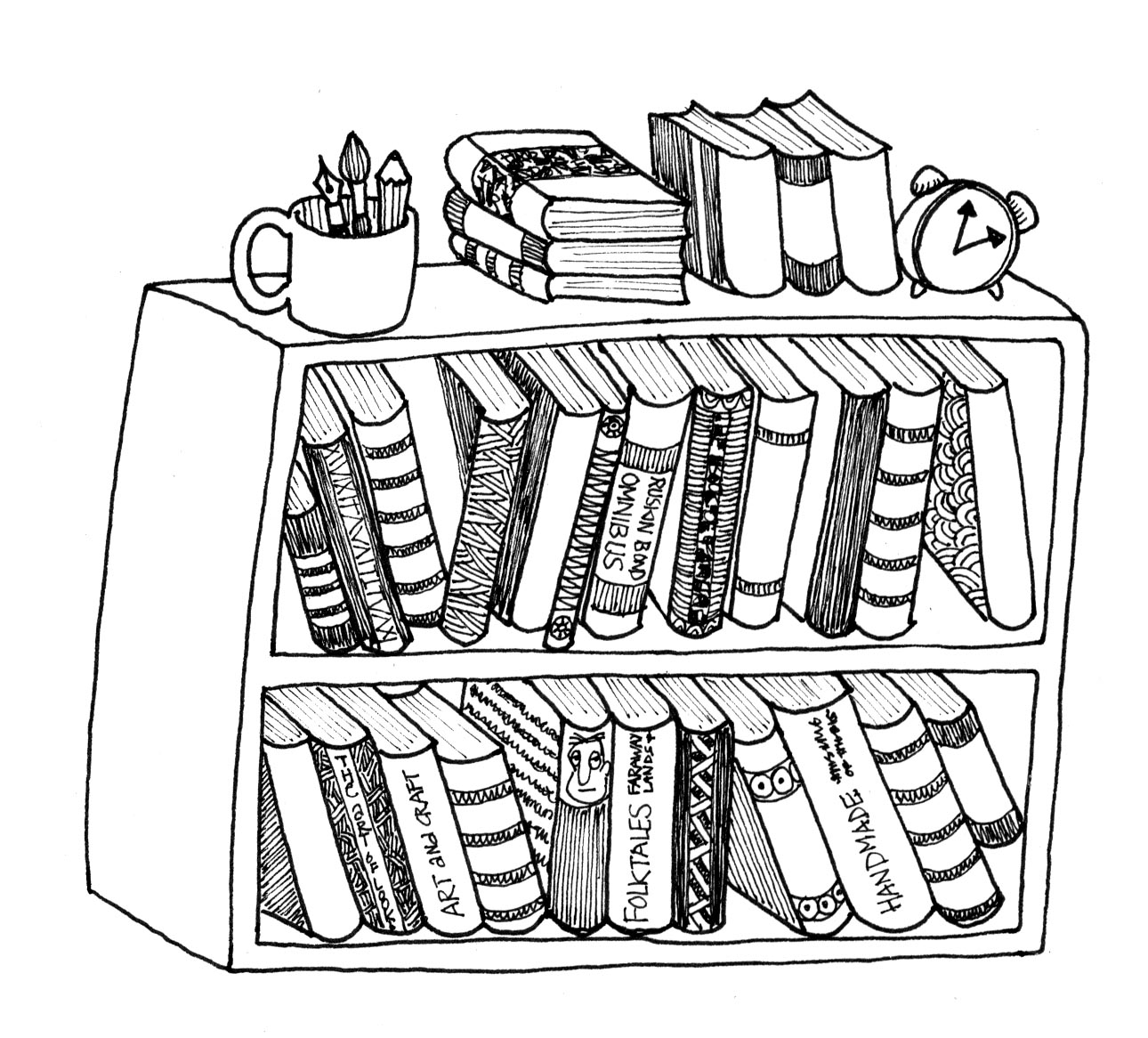 Drawn bookcase #3