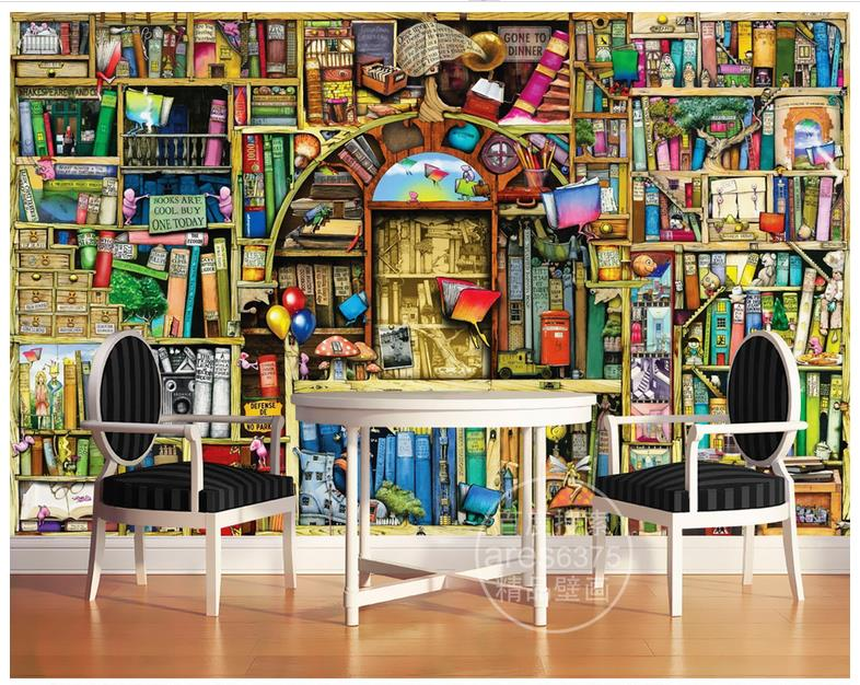 Drawn bookcase background Get background Rolling Quality room