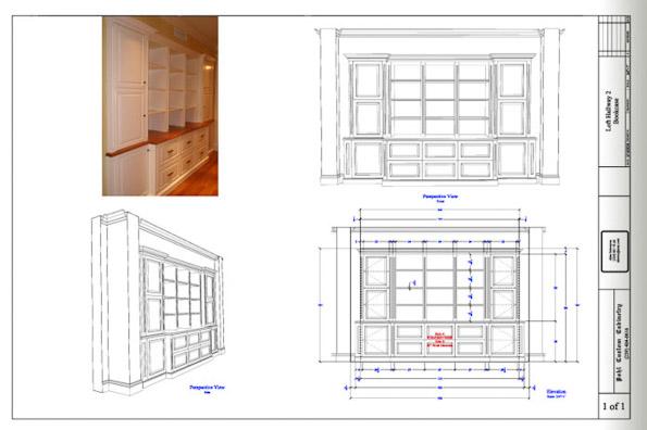 Drawn bookcase big Custom Cabinet Designs Build Bookcase