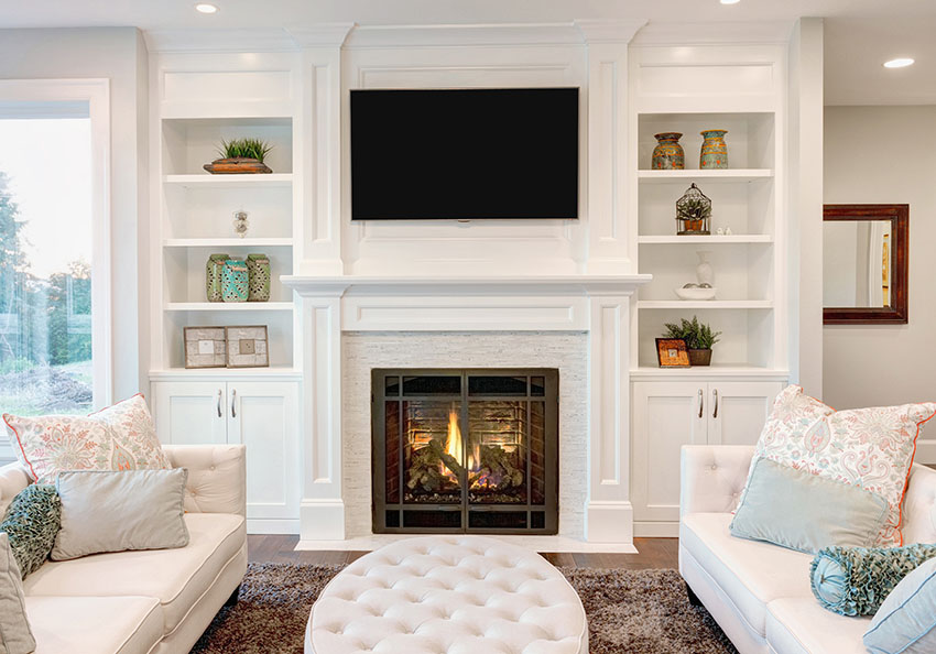 Drawn bookcase big Fireplace Tips in to Feel