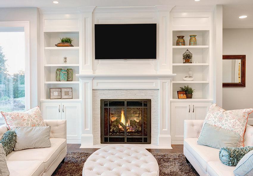 Drawn bookcase big Fireplace  Ideas Make Living
