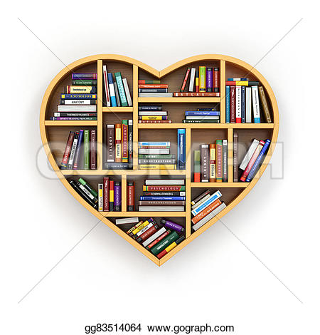 Drawn bookcase book clipart Education Education bookshelf concept books