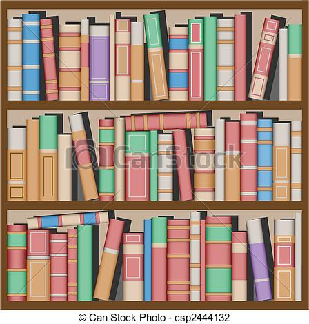 Drawn bookcase book clipart On Clipart Shelves Collection Illustration