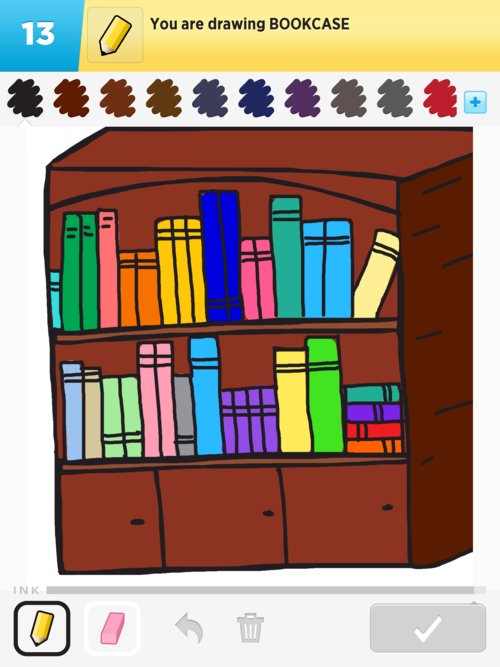 Drawn bookcase To The to Draw Draw