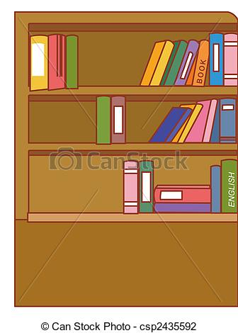 Bookcase clipart full Csp2435592 Bookcase  bookcase drawing