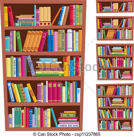 Bookcase clipart full Csp11237865 Bookshelf  bookshelf Cartoon