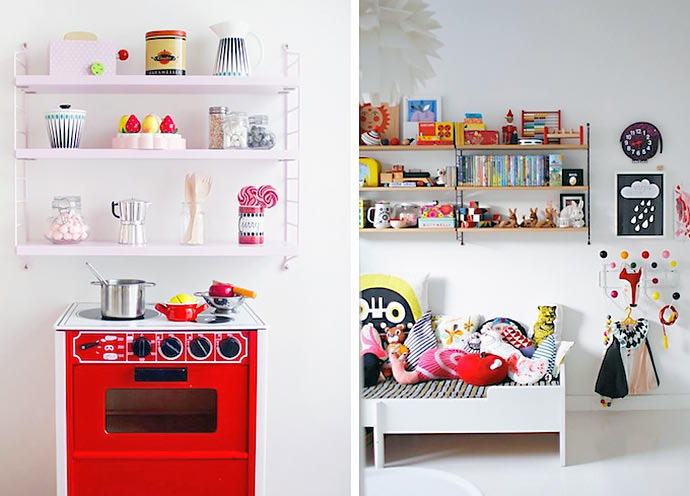 Drawn bookcase childrens Wall Kids String And Kids'