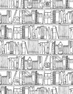 Drawn bookcase funny *limited Color Wonderful & Book: