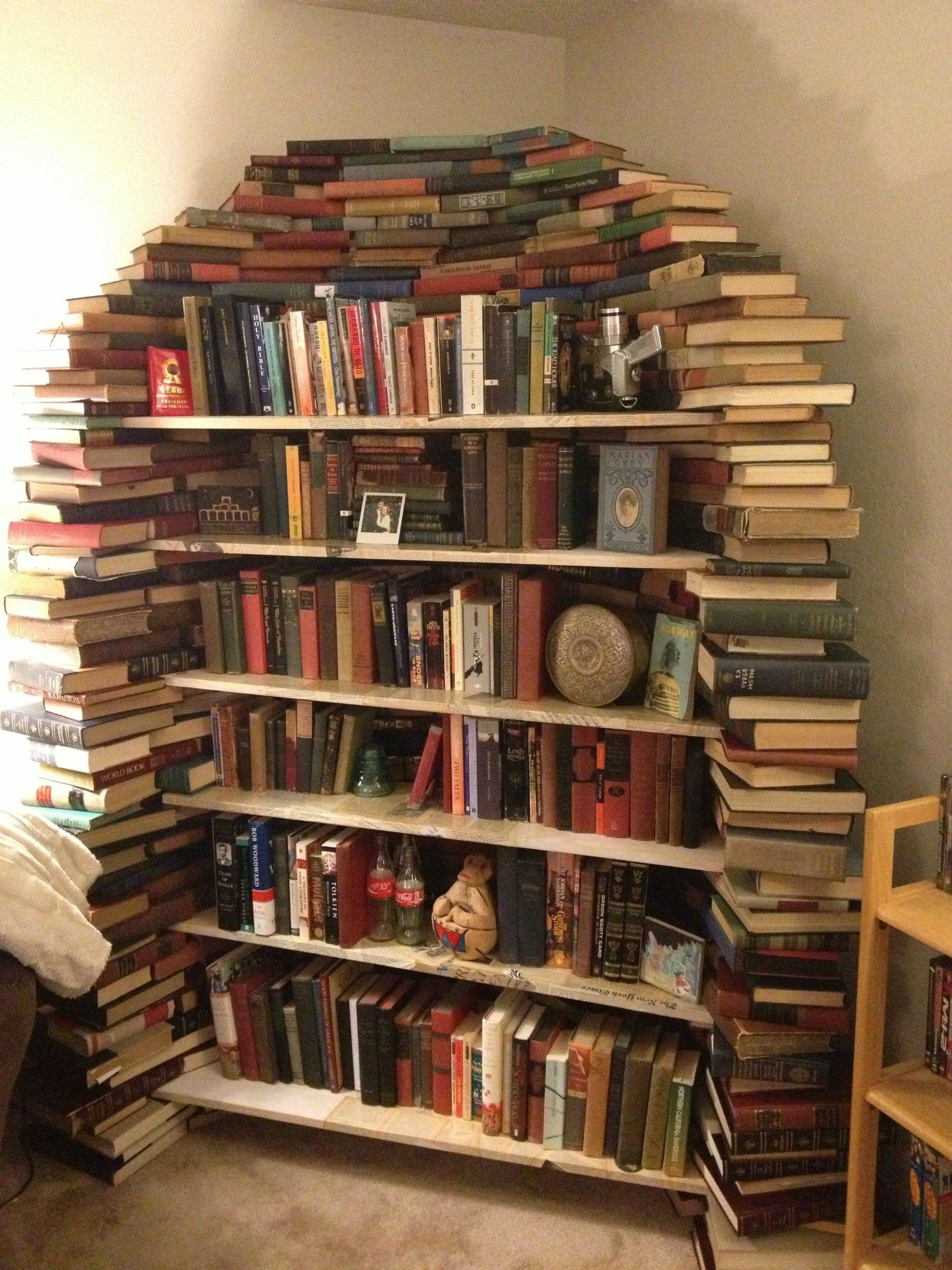 Drawn bookcase funny Bookshelf Books out made This