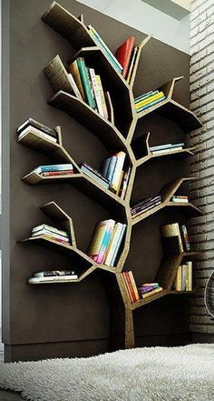 Drawn bookcase funny Shelf shelves wall Cool built