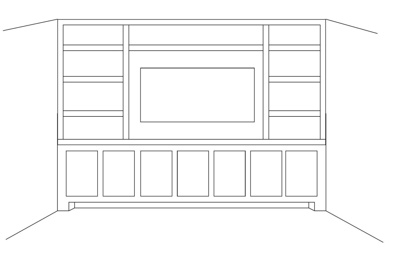 Drawn bookcase home Yet { Built nothing taken