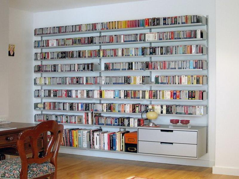 Drawn bookcase huge Build to Large Wall White