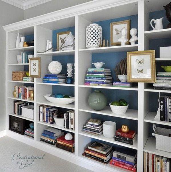 Drawn bookcase huge IKEA bookshelves Inspiration Hacks room