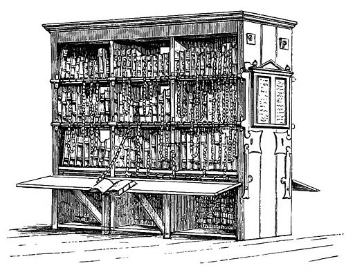 Drawn bookcase medieval 4 Medieval the in Libraries