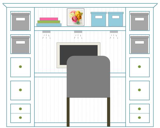 Drawn bookcase organized 3 and shelf Basement And