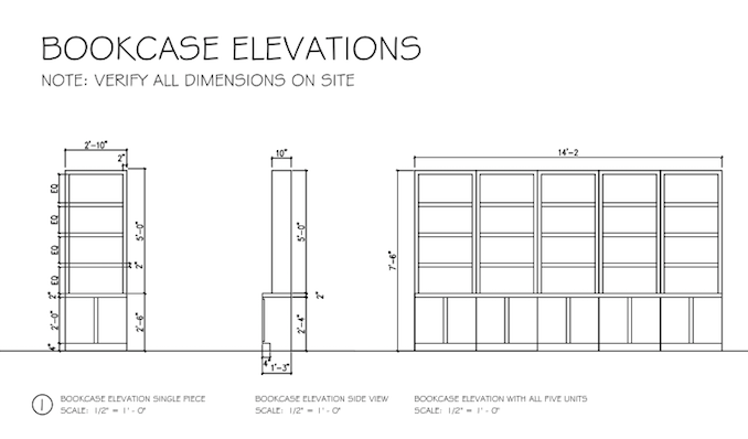 Drawn bookcase perspective Bookcases bookcases The – Perspective