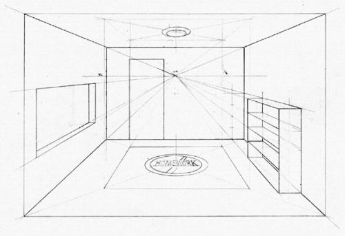 Drawn bookcase perspective WetCanvas (which make Basic and