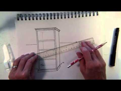 Drawn bookcase perspective Perspective Bookcase YouTube perspective Bookcase