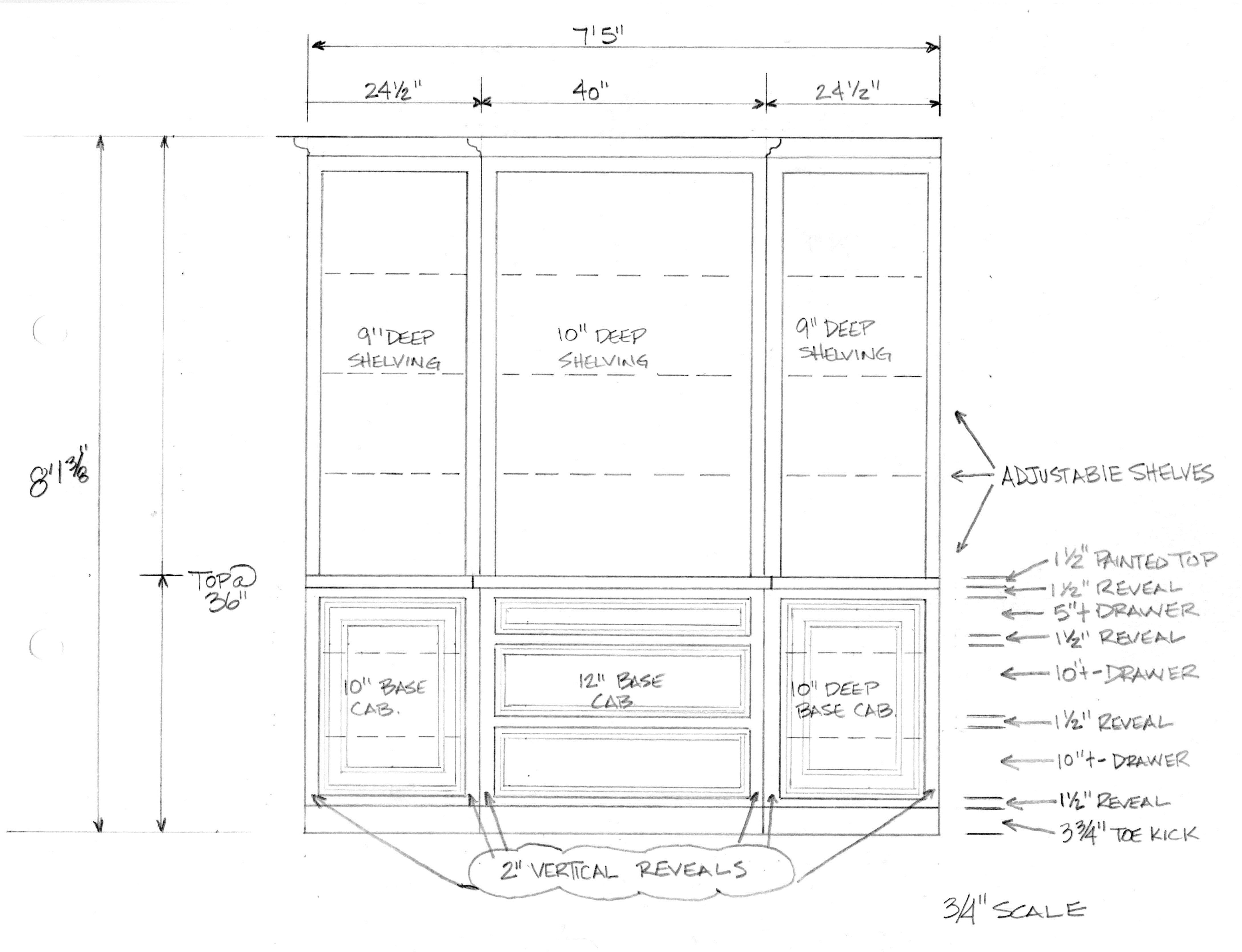 Drawn bookcase simple Drawing in (1072×840) bookcase Casework/Millwork