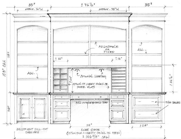 Drawn bookcase simple Custom desk pad file Pinterest