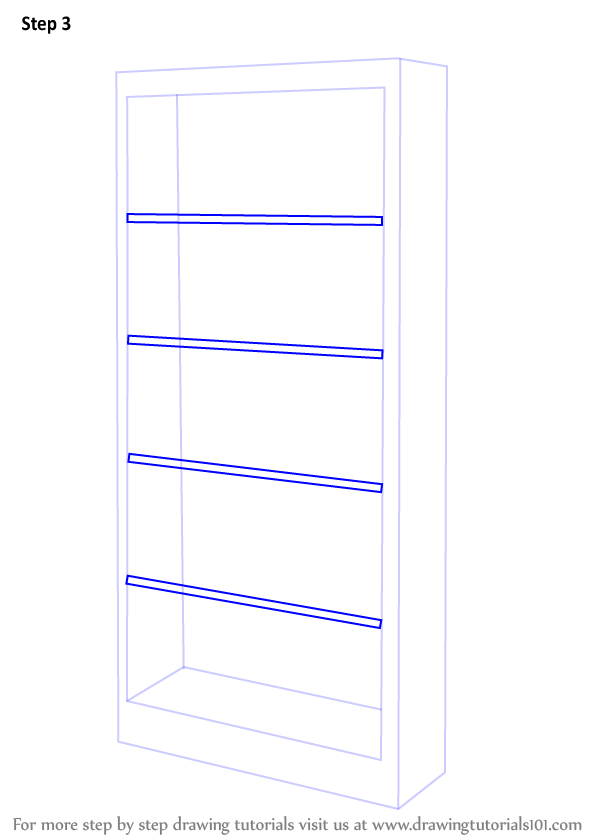 Drawn bookcase simple Each Learn Step  How