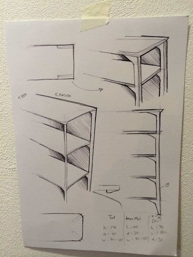 Drawn bookcase sketch Shelving a unit #Drawing time