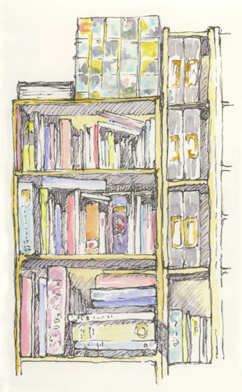 Drawn bookcase sketch And Sketching Sketchbooks Bookcase The