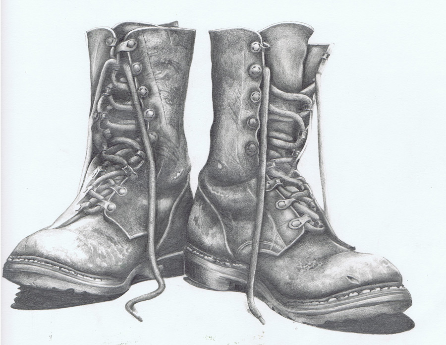 Drawn boots old Work boots for for worn