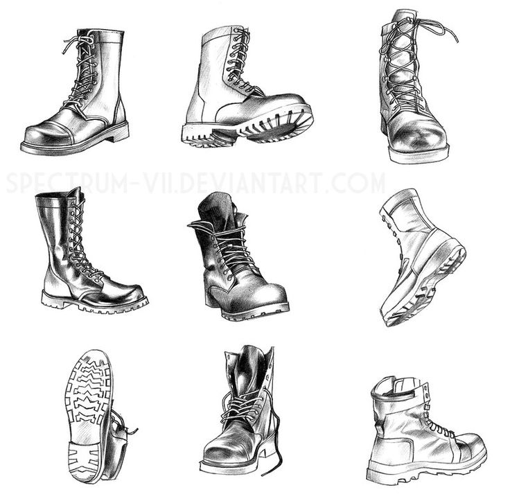 Drawn boots cartoon Vintage boot in best and