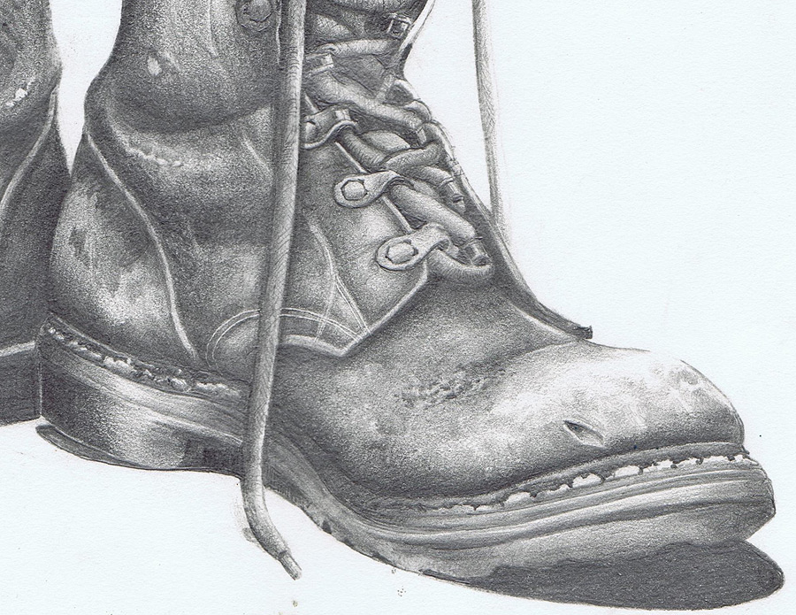 Drawn boots Art with Old You David