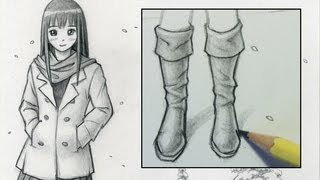 Drawn boots By Step] Boots [Narrated How